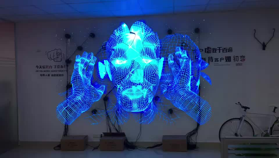 2019 High resolution wifi 4blade 3d holographic led fan hologram advertising display fan