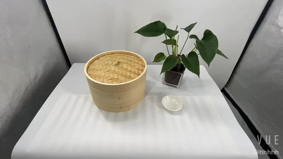 Factory Classic Traditional Design 10 Inch Bamboo Steamer for sale