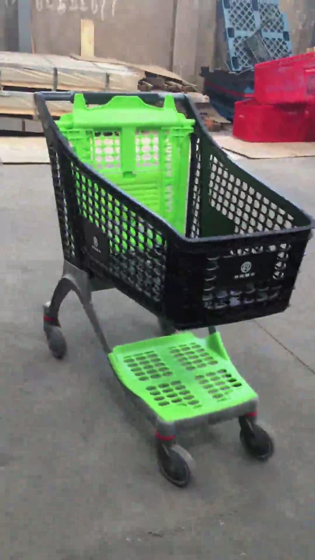 Nuovo stile all plastica carrello della spesa di plastica negozio supermercato carrello della spesa