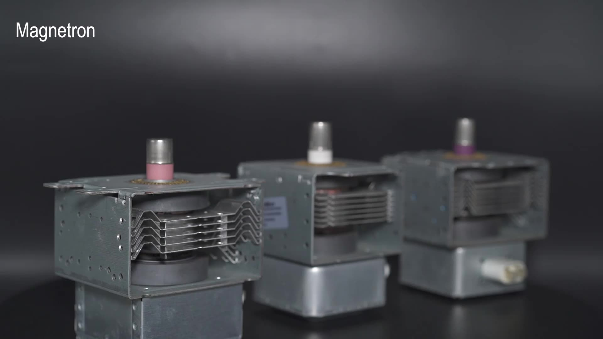 Düşük fiyat yerine LG 2M246-01TAG mikrodalga fırın Magnetron için 6 delikli montaj ayak 90 derece güç pin 6 ısı yutucular