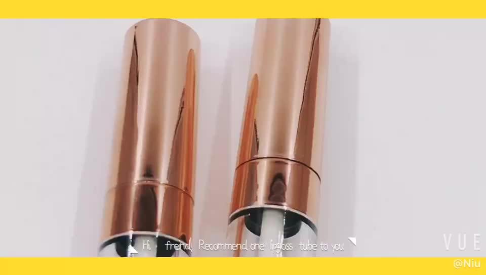 Großhandel hohe qualität verpackung rohre für kosmetische lipgloss container rose gold make-up rohr