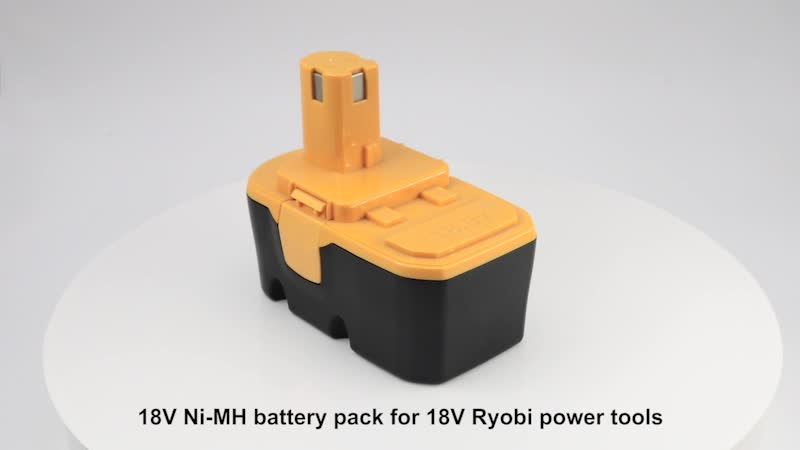 Custom 18V Ni-MH Replacement Power Tool Battery Pack for Ryobi P104 P105 P106