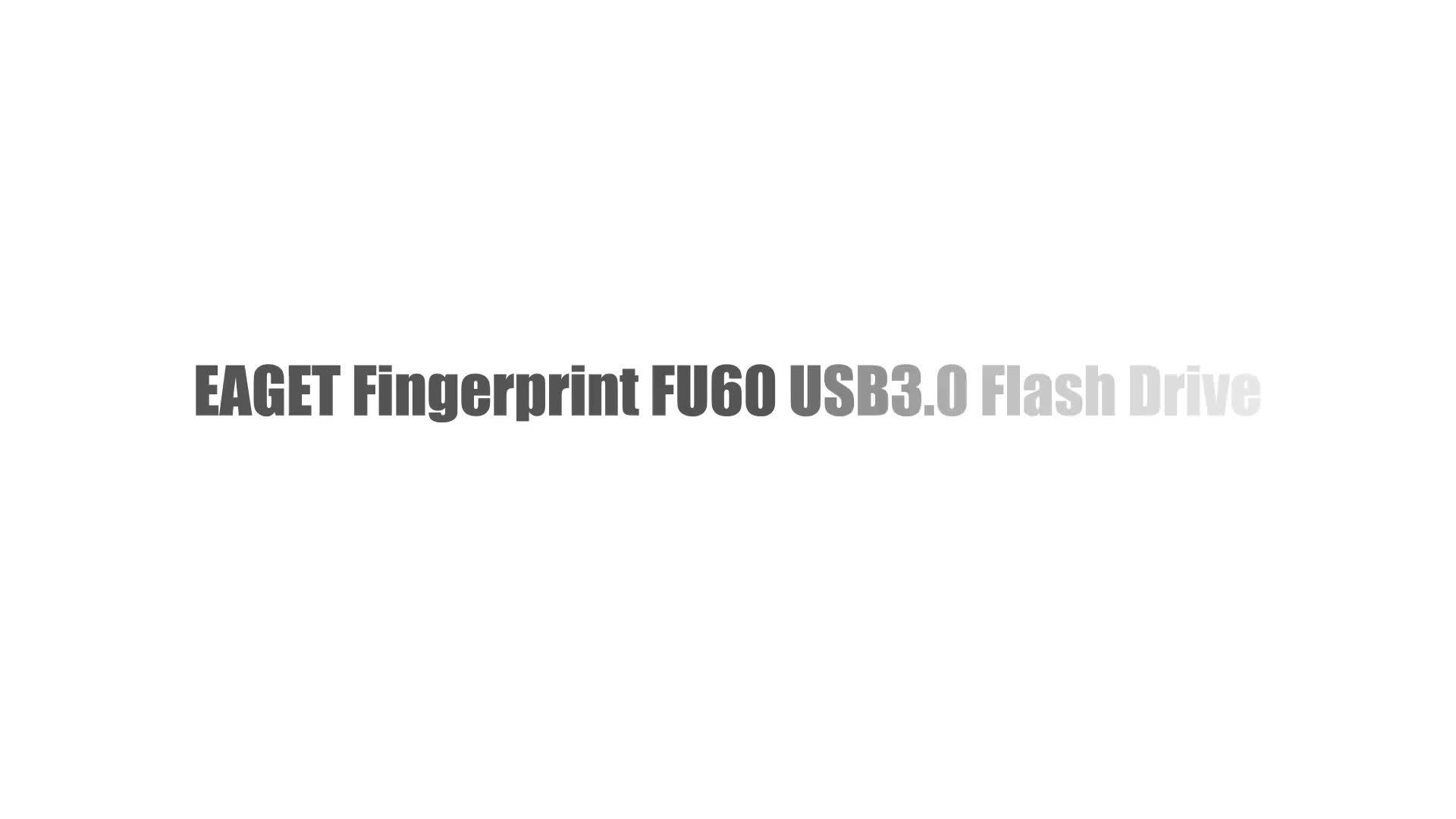 Флеш-накопитель EAGET 32 ГБ/64 Гб/128 ГБ с функцией шифрования отпечатков пальцев