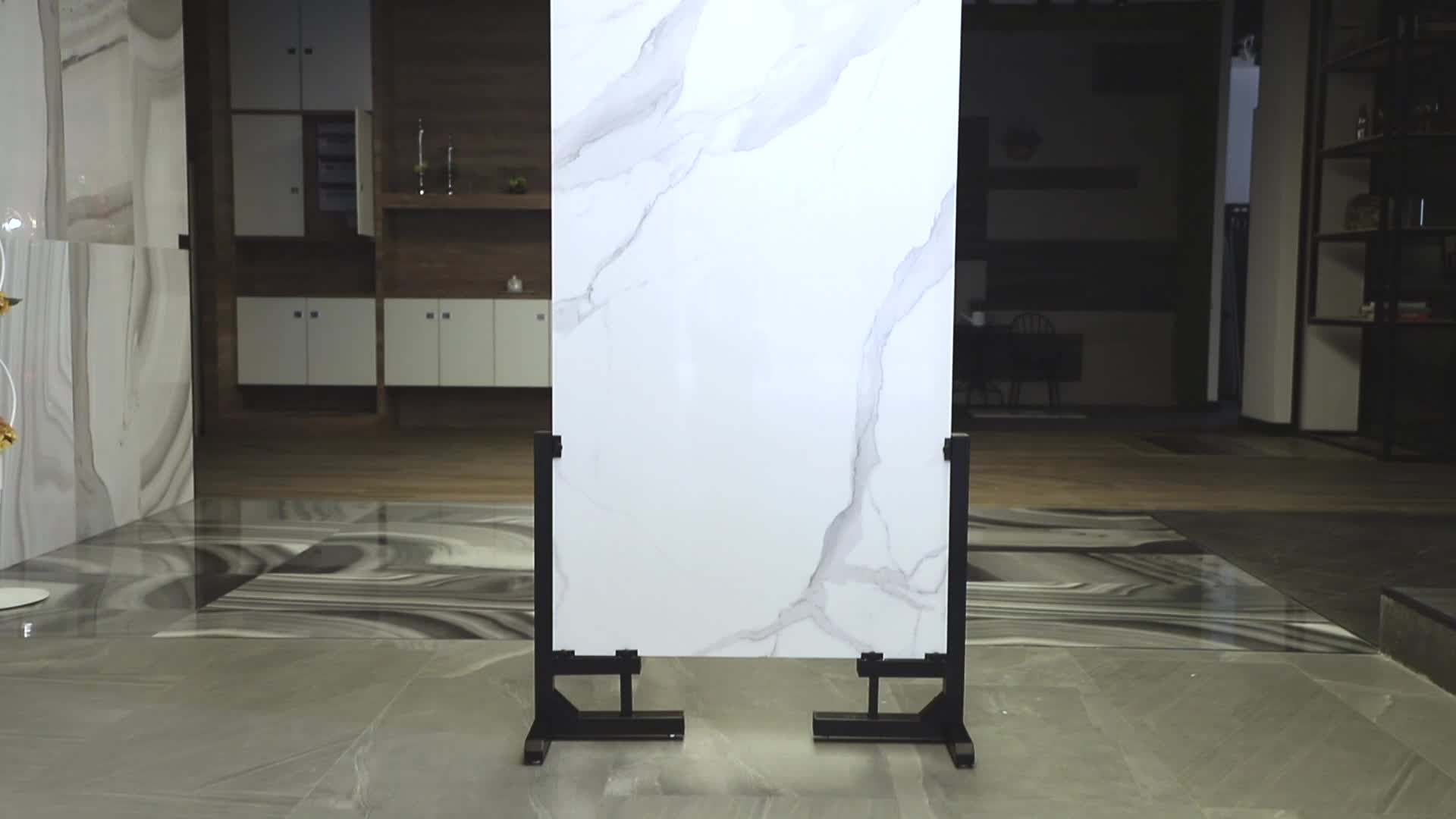 กระเบื้องปูพื้นเซรามิก60X60ราคาสำหรับ Pulati กระเบื้องปูพื้นพอร์ซเลนสีขาว