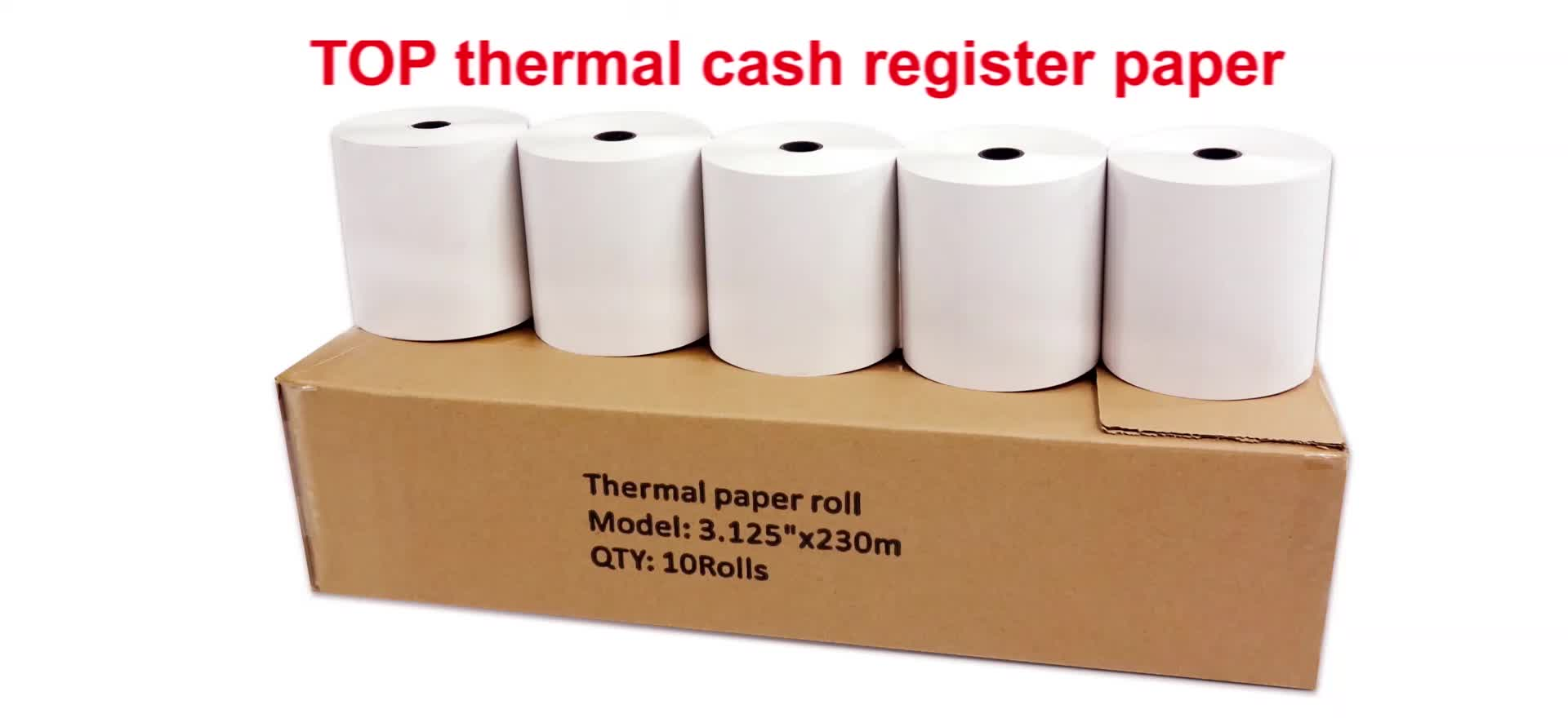 "Jetland Thermal Paper 80*50mm, no core, 55gsm,  Cash Register Receipt Paper Roll  3 1/8"" x 100', BPA free"