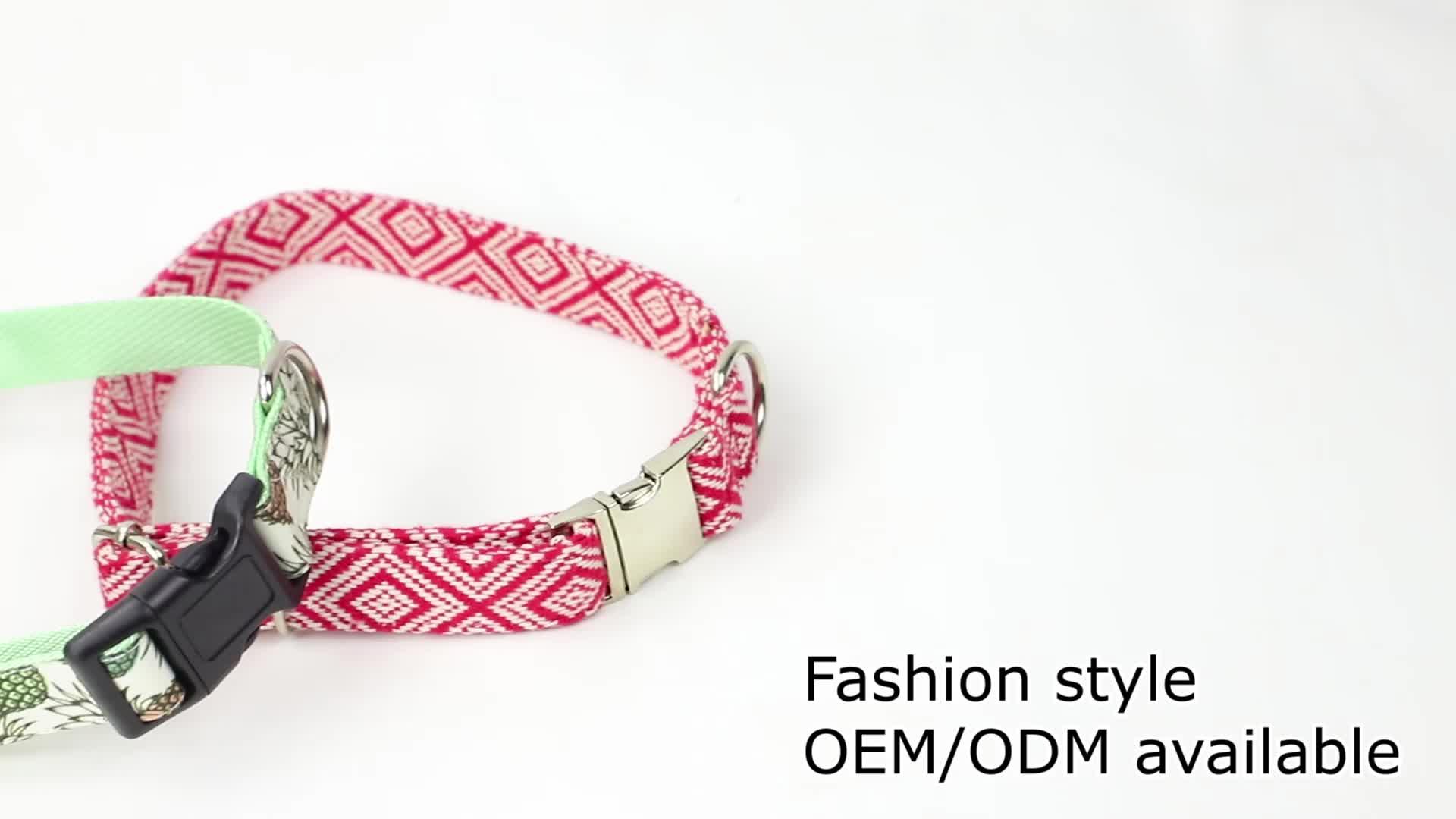 classic hand made luxury tweed hemp custom dog collar