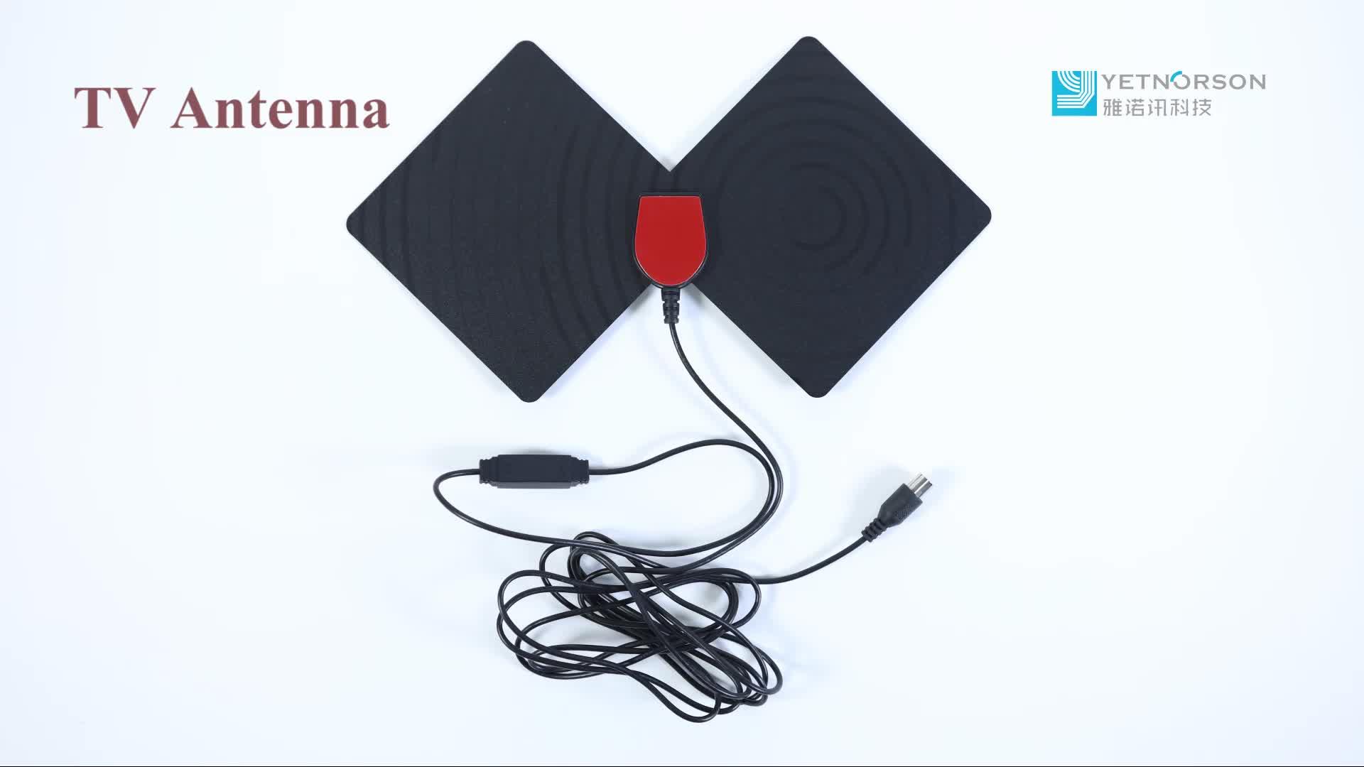 Esterna Impermeabile Digital TV DVBT Antenna Attiva con 3M RG174 Cavo Ubiquity Vendite Calde