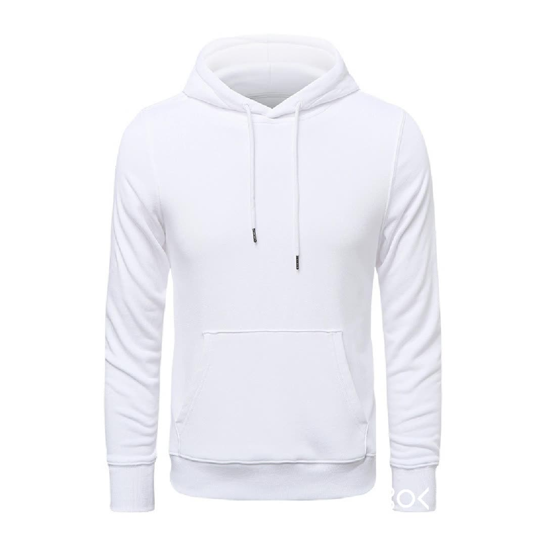 Wholesale sports cotton hooded sweater Autumn solid color men hoodies