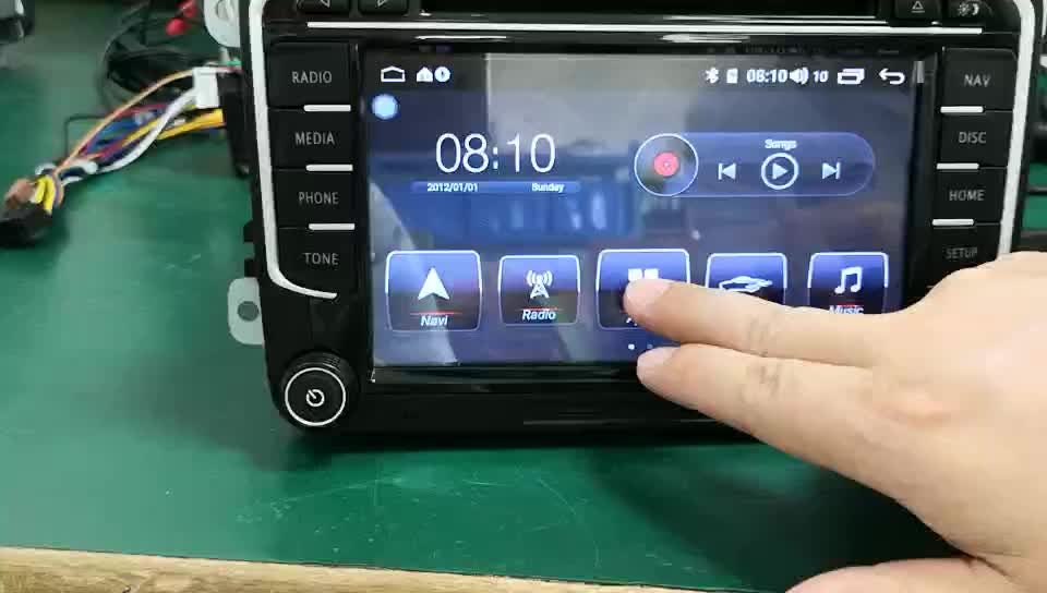 Manufacture Android 8.1 Car Stereo Bluetooth for VW Old Touareg Car Stereo 2 Din T30-710