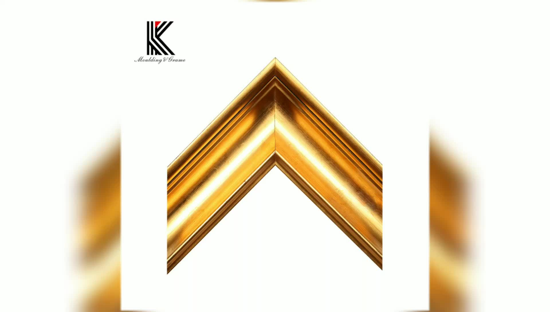 Solid Wood Custom Gold Picture Frame Chinese Wood Moulding