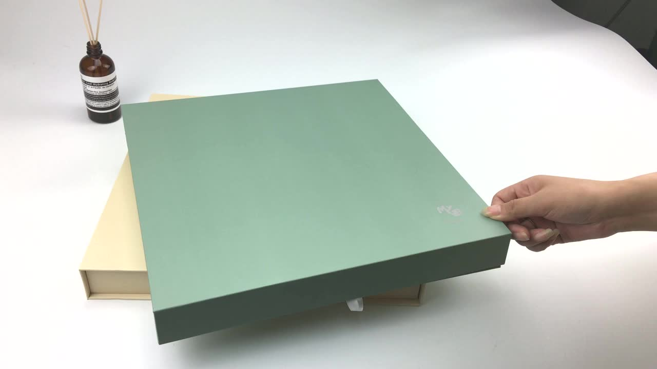 High end China business brochure manufacturers video greeting card booklet with box