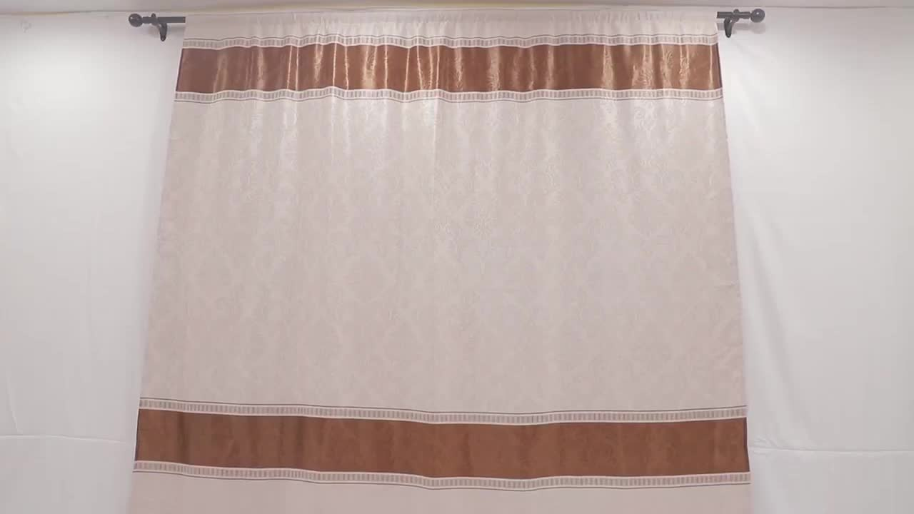 NAPEARL ready made luxury european style blackout living room curtains