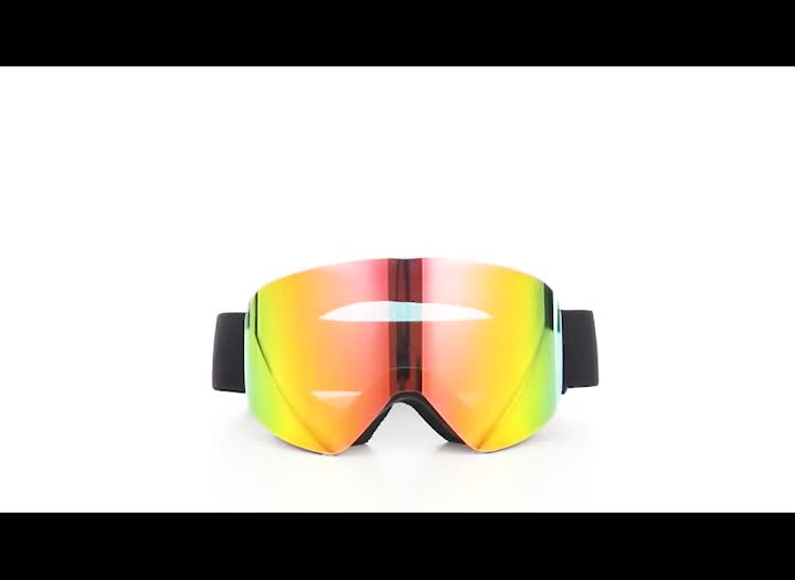 HUBO الرياضة دعم مخصص الصغيرة بالجملة المغناطيسي فرملس مصمم أفضل معكوسة على الجليد نظارات للتزلج على الجليد نظارات