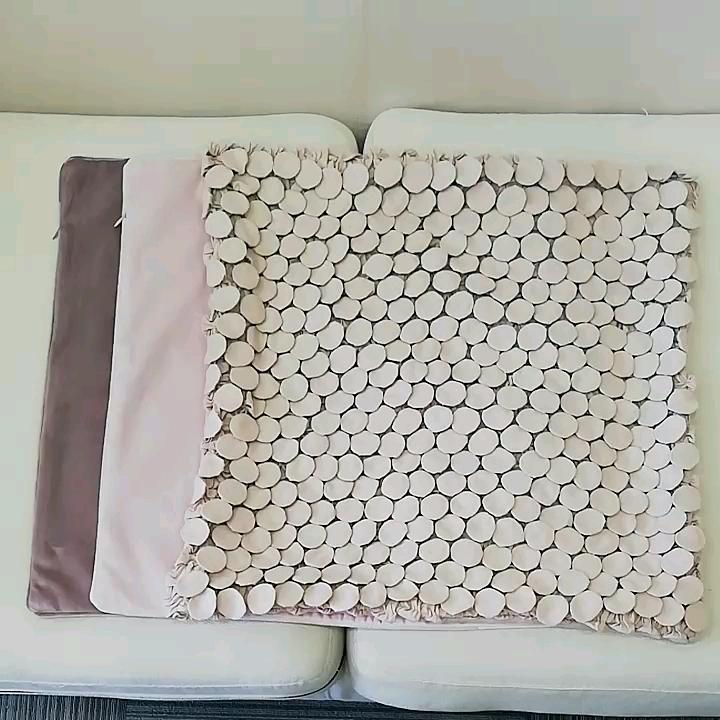 Super Doux Rose Style Ins Populaire Velours tridimensionnel Bulle Taie D'oreiller Canapé Salon Taille Housse De Coussin En Gros