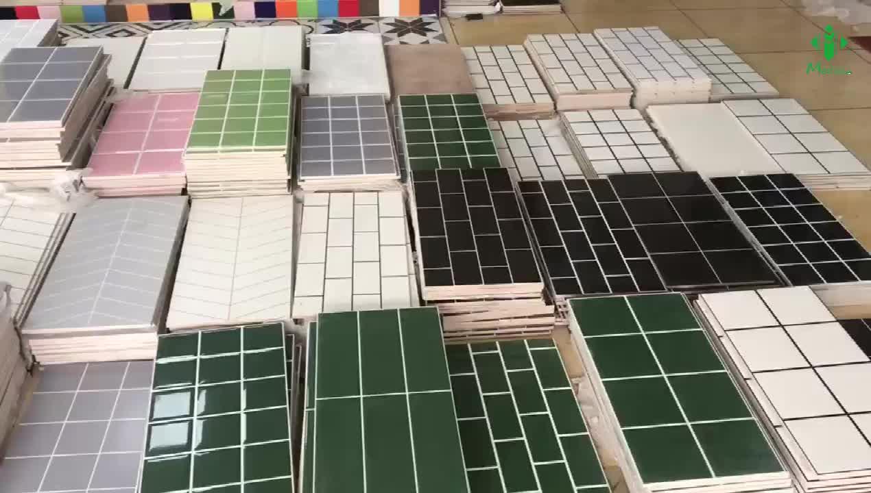 12x24 superficie de onda habitaciones interior azulejo de la pared de diseño de plástico de azulejo de pared azulejos de Metro brillante cocina backsplash
