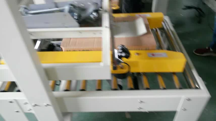 HOT SALE Semi-automatic right and left belts driven carton sealer