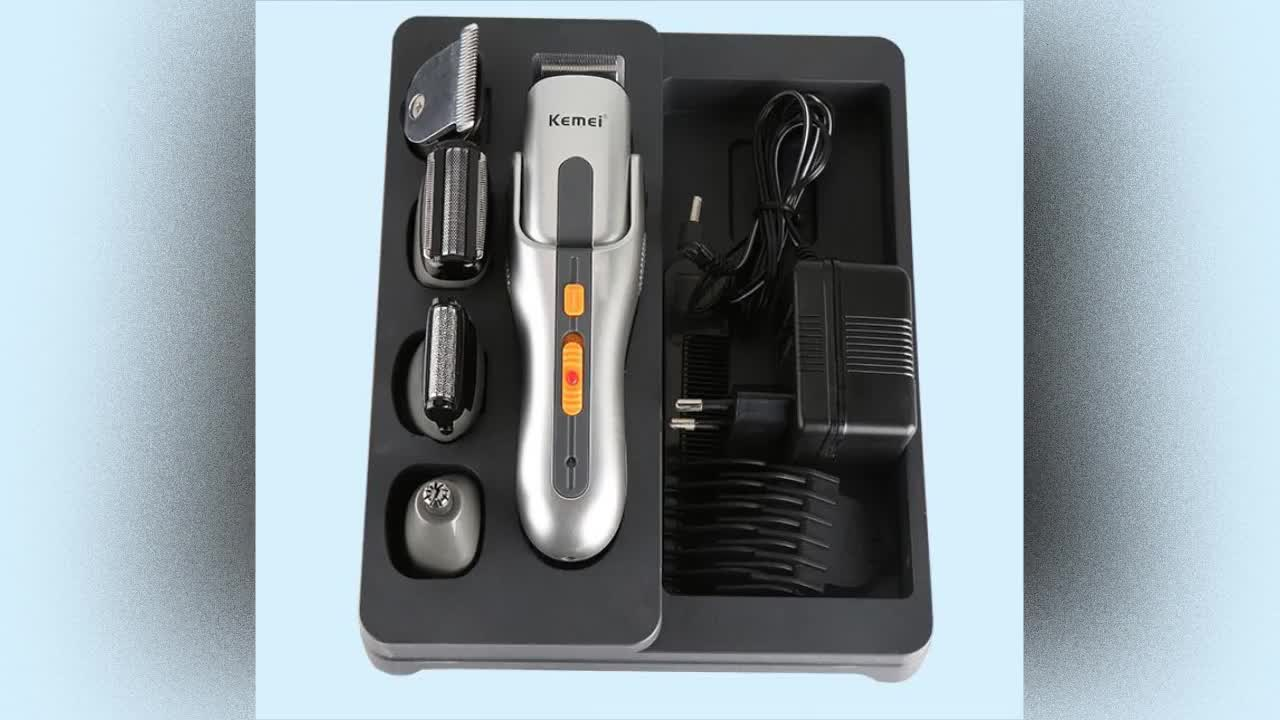 Professional Household Multifunctional Rechargeable Electric hair clipper/cutter KM-680A