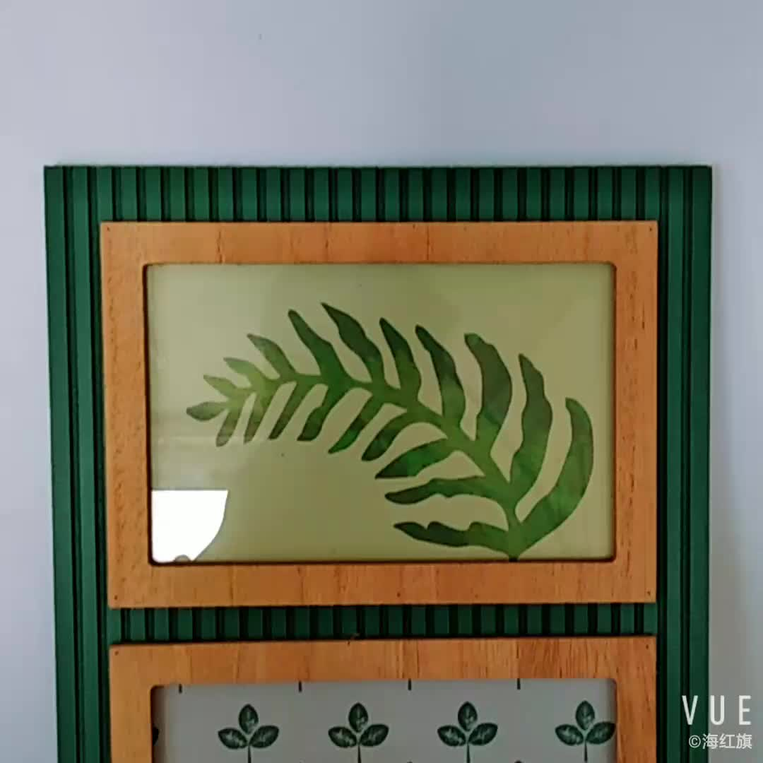 Wholesale Multiple Photo 3 Collage Wooden Paint Picture Frame with click