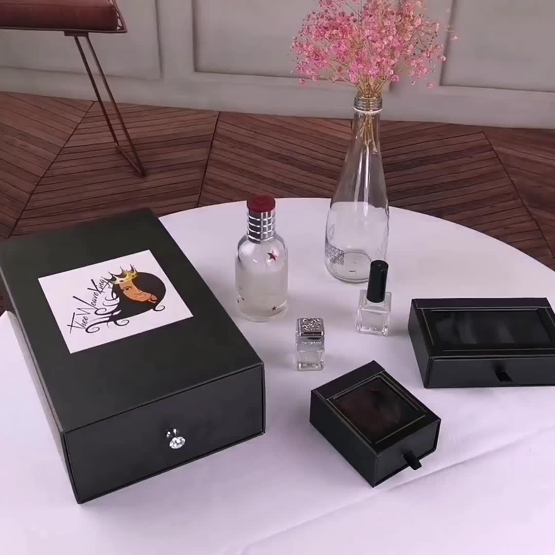 Luxury Kraft Paper Gift Box With Ribbon Drawer Box Packaging