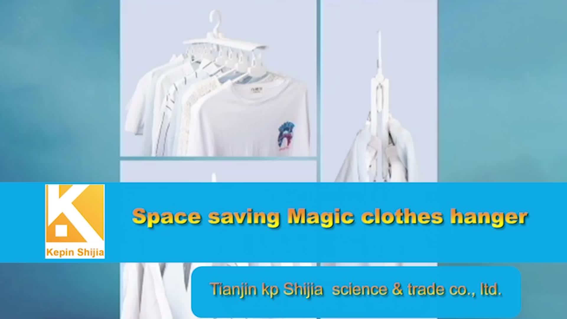 Ganchos giratorios de 360 grados plegables innovadores de alta calidad que ahorran espacio percha mágica duradera para ropa de armario