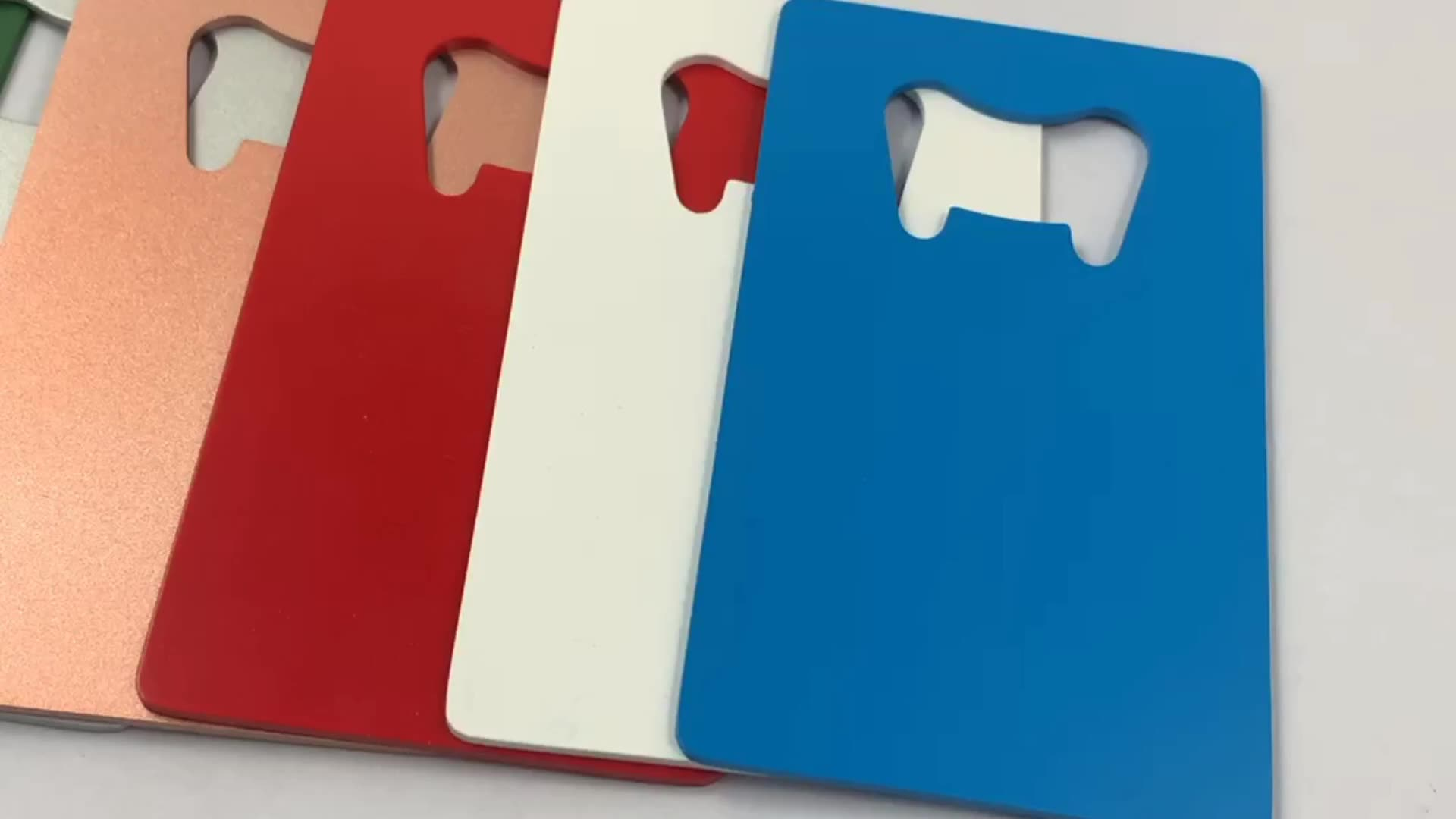 Metalen Bierfles Opener Custom Logo Flesopener Business Credit Card Flesopener