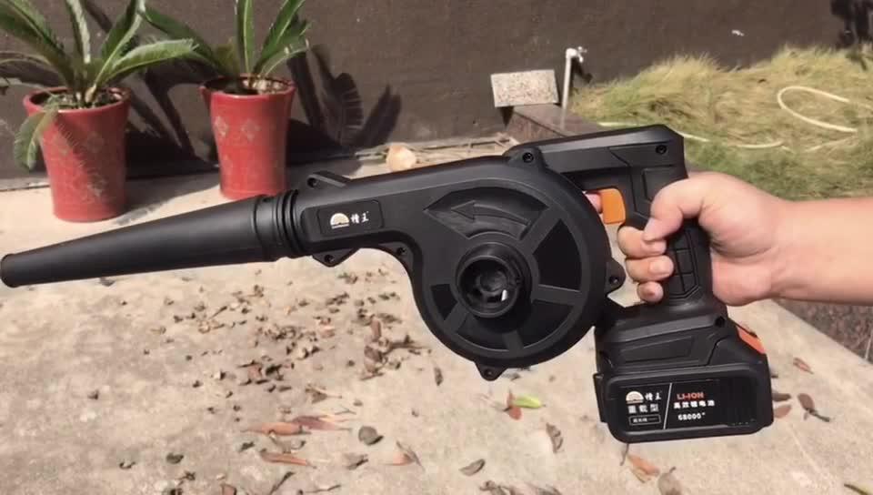 21V familia de herramientas de jardín golpe y chupar dual-uso vacío eléctrico inalámbrico de soplador de aire para hojas