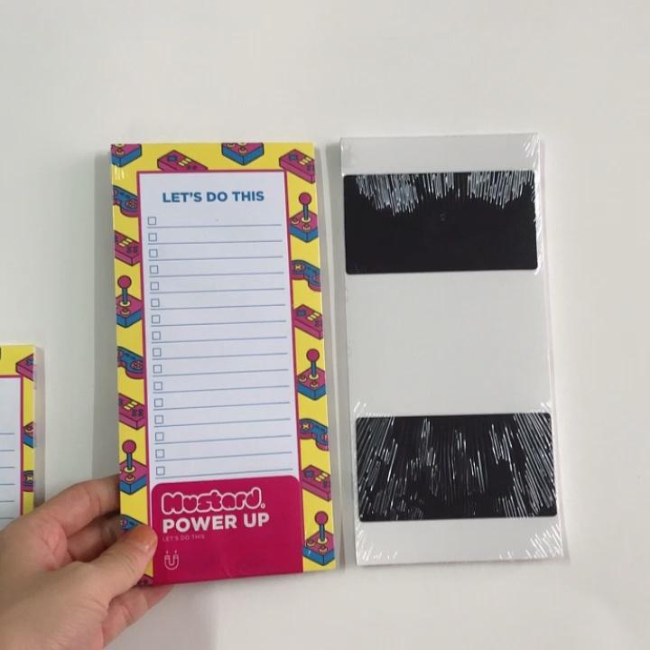 はがす消去可能なプロモーションカスタム磁気メモ帳冷蔵庫マグネットメモ帳