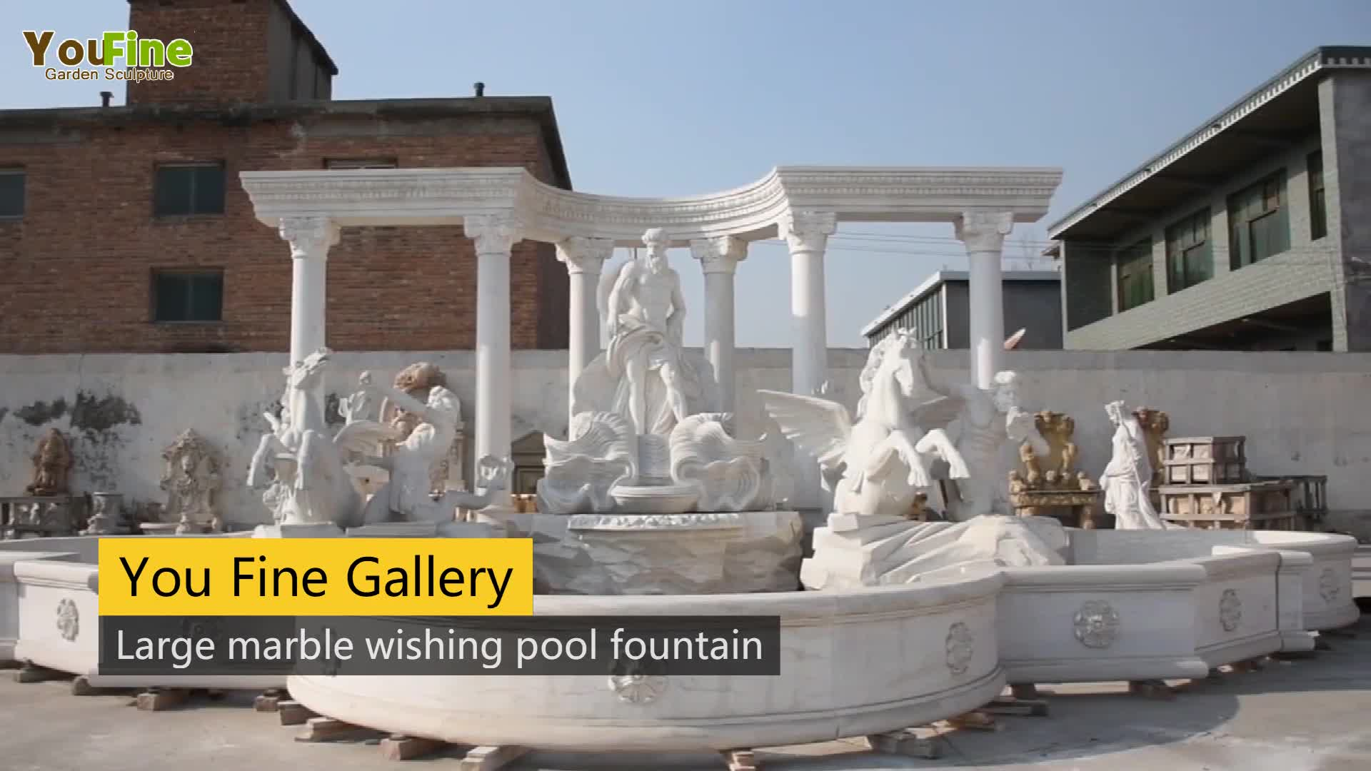 Large Outdoor Garden Marble  Fontana Di Trevi Water Fountain