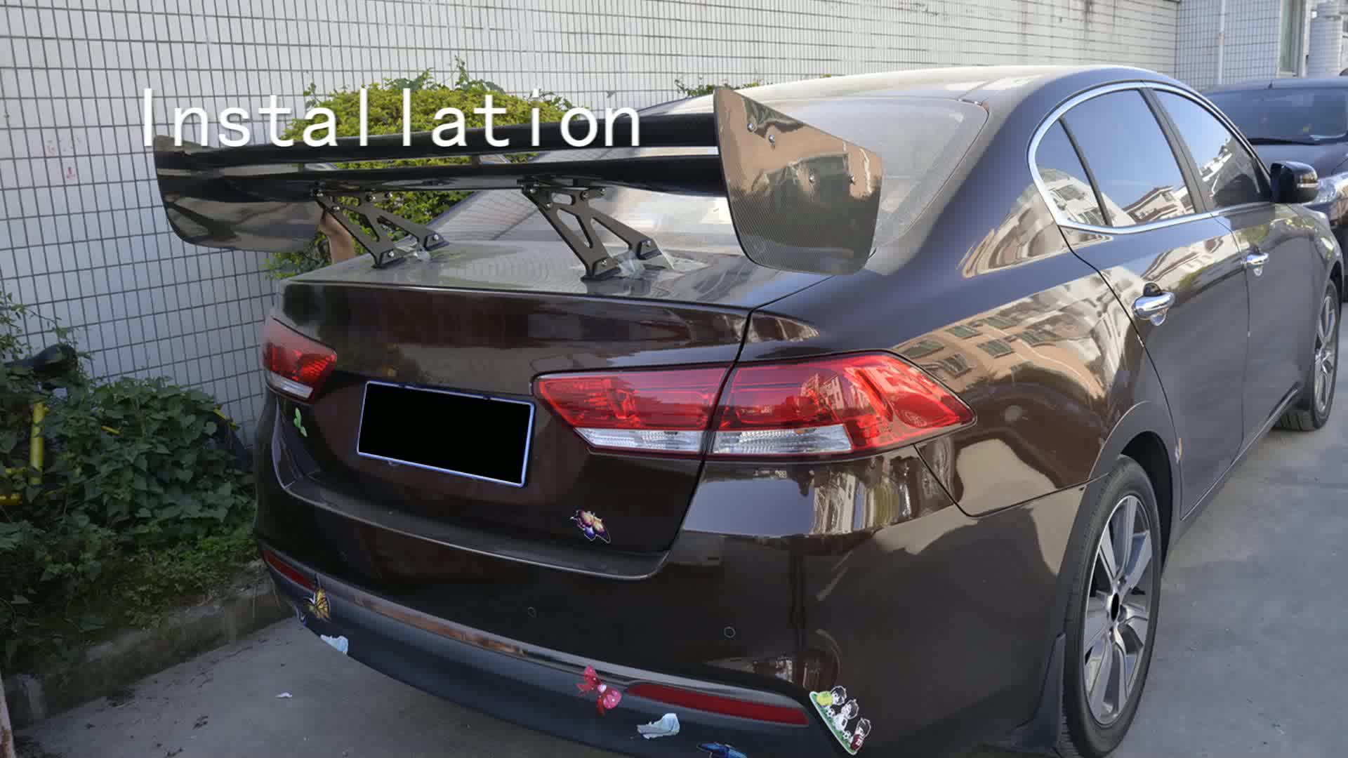 Universal คาร์บอนไฟเบอร์สปอยเลอร์ด้านหลังสำหรับ BMW Audi Volkswagen Ben z Toyota Nissa n GT