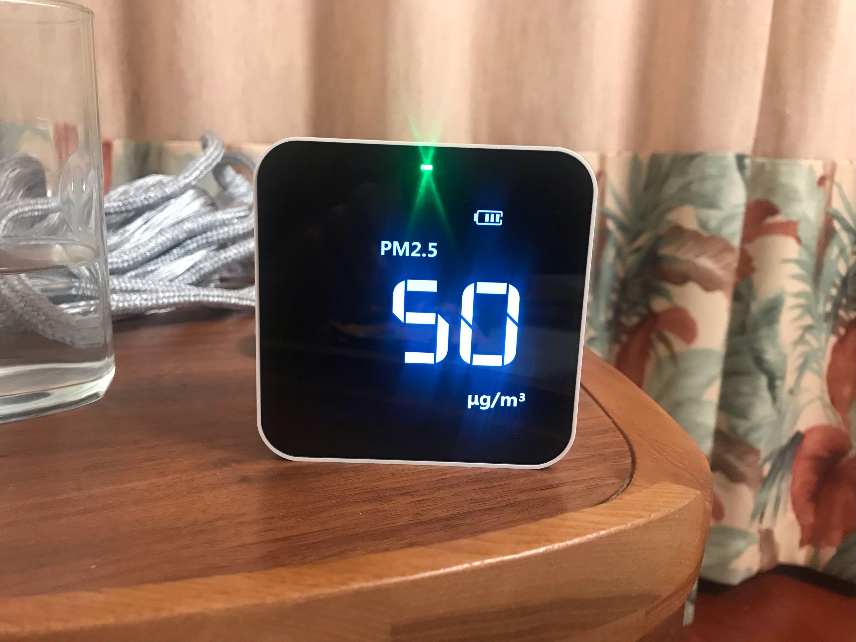 能检测甲醛/PM2.5/TVOC/AQI四种有害物质的空气检测仪