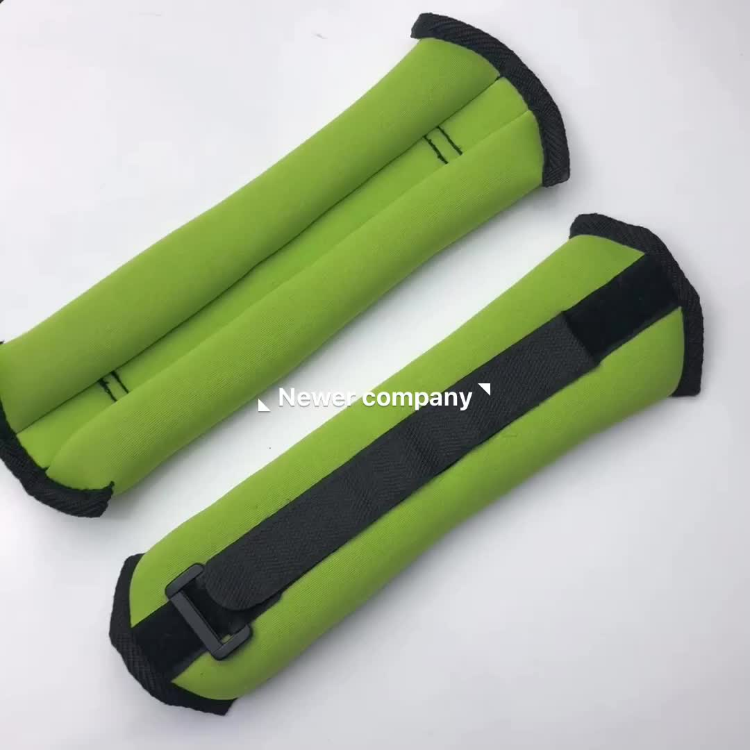 High quality insulated adjustable customized neoprene wrist and ankle weights