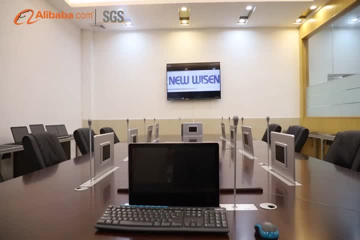 Configurazione personalizzata Elettronico Carta di Tavola di Monitor Lcd Ascensore Sistema di Conferenza tavolo da conferenza lcd