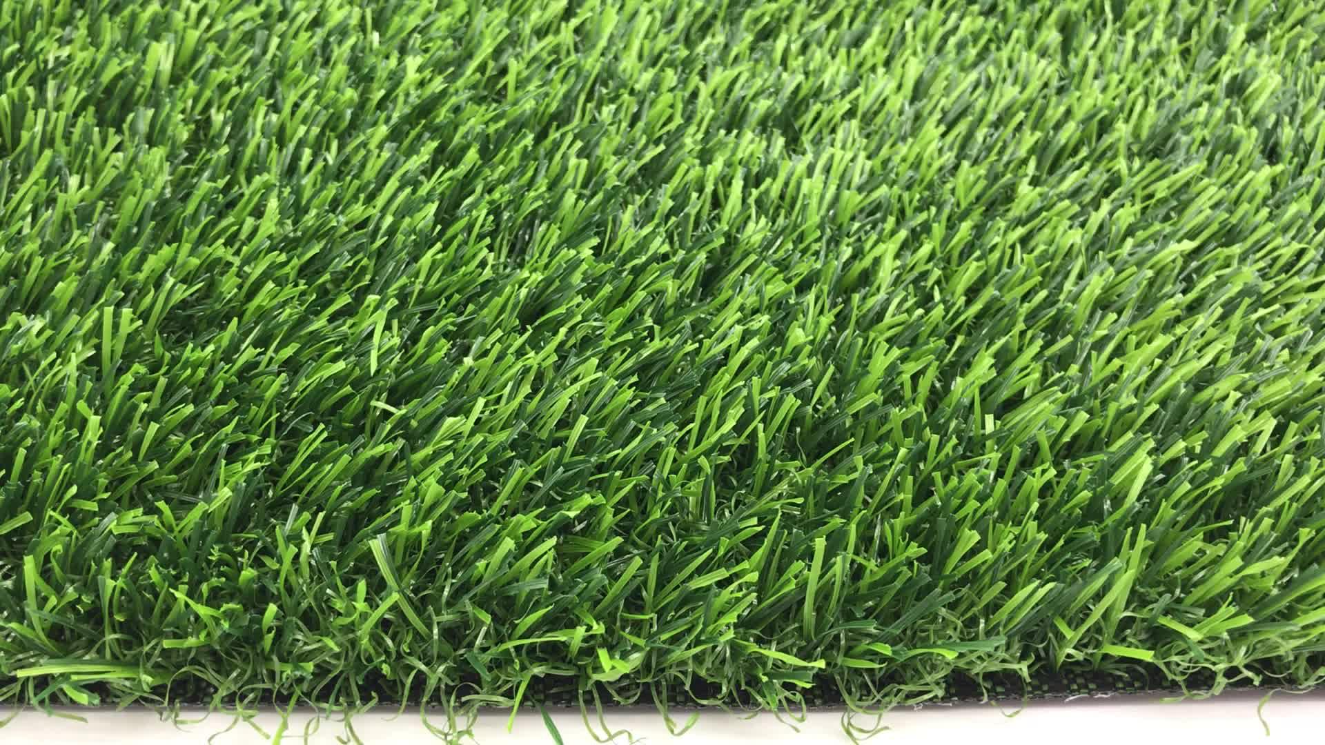 """25 מ""""מ UV התנגדות עמיד למים חסין אש למראה טבעי דשא מלאכותי דשא לגינון"""