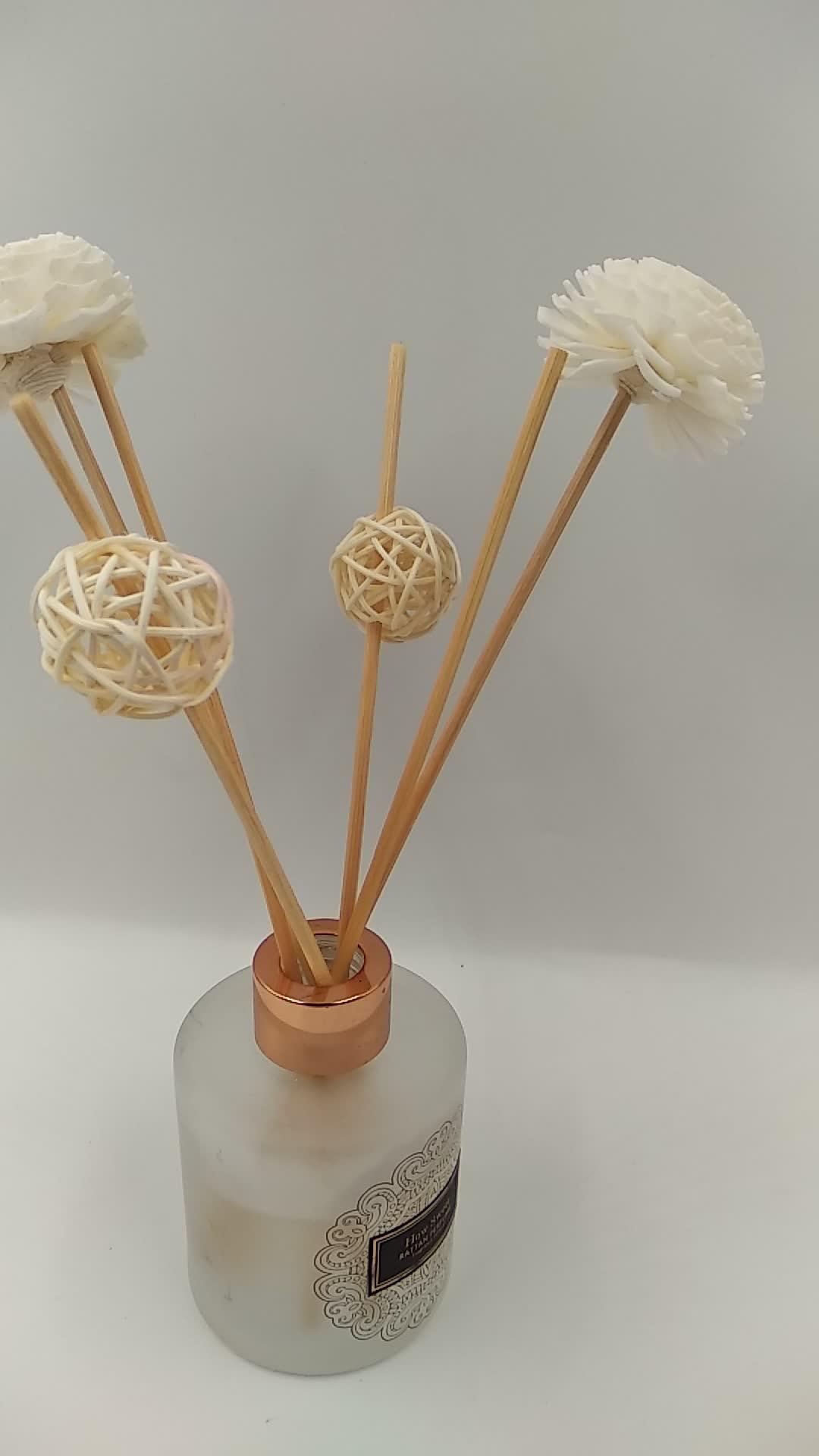 Artesanal De Madeira Sola Flor Difusor de Flores Secas com Corda de Algodão