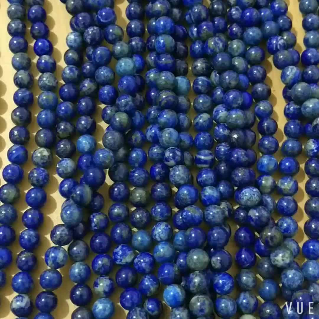 Natural Loose Stone Size 8mm Lapis Lazuli Beads Stones Gemstone Strand For Jewelry Making