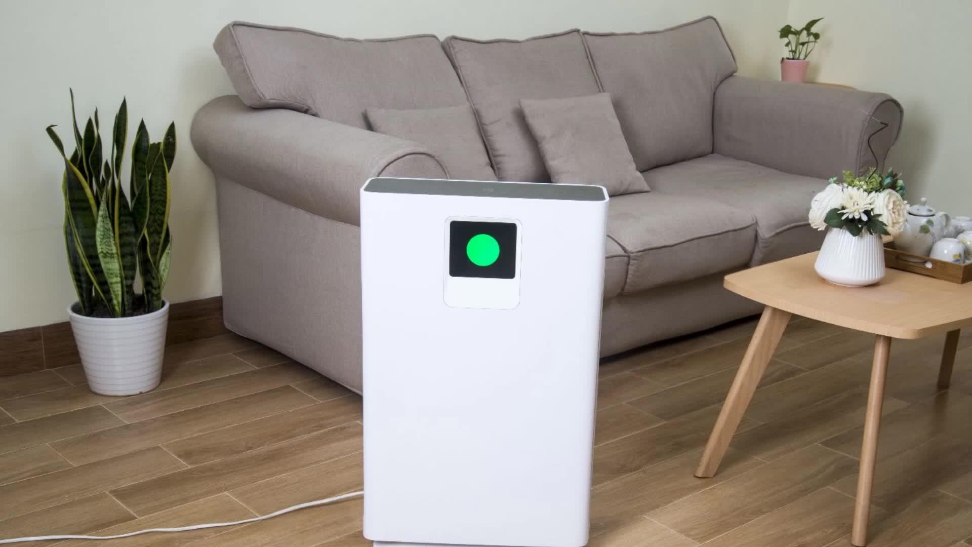 Wifi Luchtreiniger Met Hepa Filter, Luchtfilter Voor Thuis, Kamers Air Cleaner