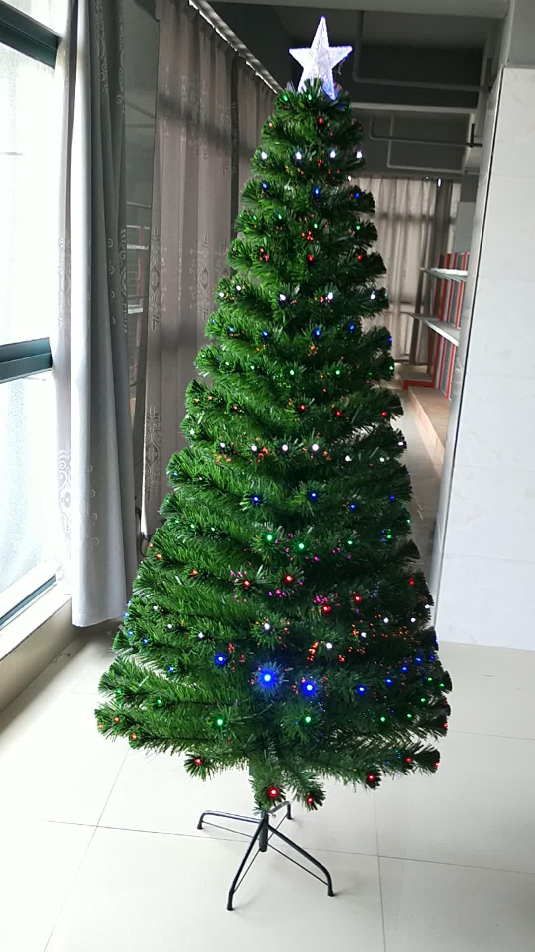 8ft Pre-lit Christmas Tree Fiber Optic Christmas Tree ...