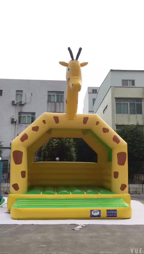 NEVERLAND TOYS Hot Sale Giraffe Bouncer Inflatable For Kids Indoor Inflatable Bouncer House Jumping Castle Kids