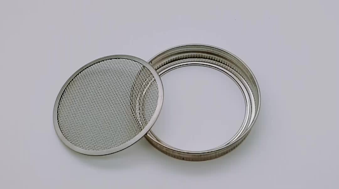 20 Mesh Stainless Steel Seed Sprouting mesh Screen Lid For 70mm Mason Jar strainer