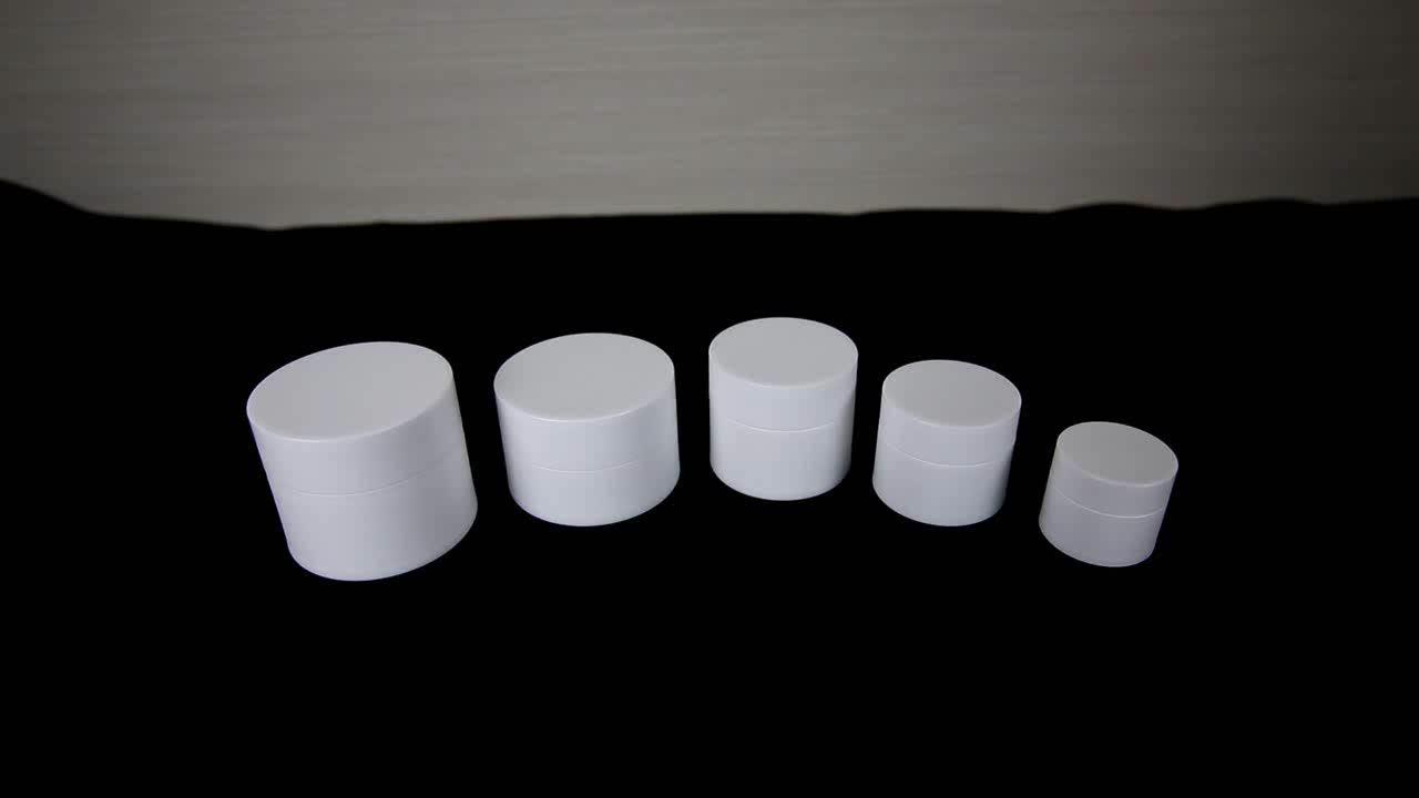4ミリリットル5ミリリットル10ミリリットル15ミリリットル20ミリリットル30ミリリットルプラスチック空クリームppジャー用化粧品