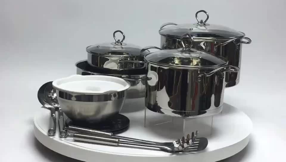 20cm 24cm stainless steel cooking pot with glass lid view the cooking process MSF-8023