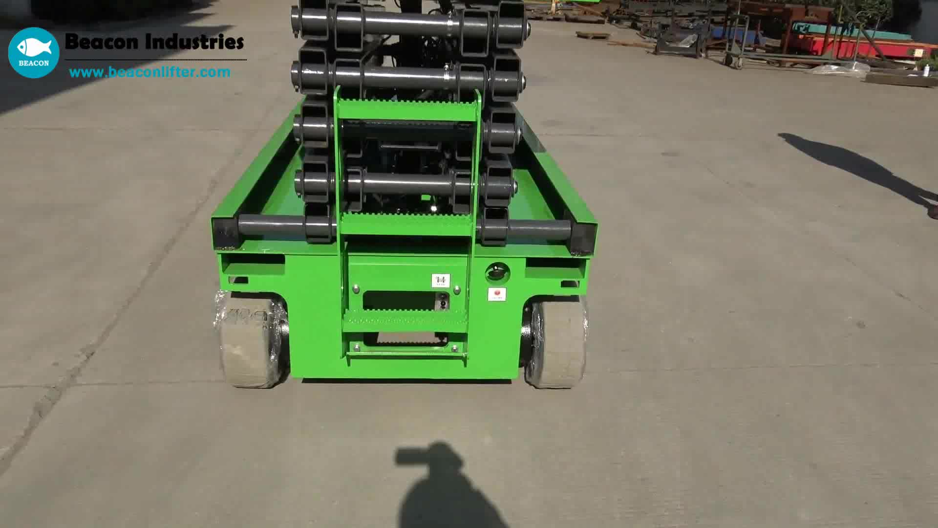 10m material lifting platform motorized lifting platform scissor lift platform