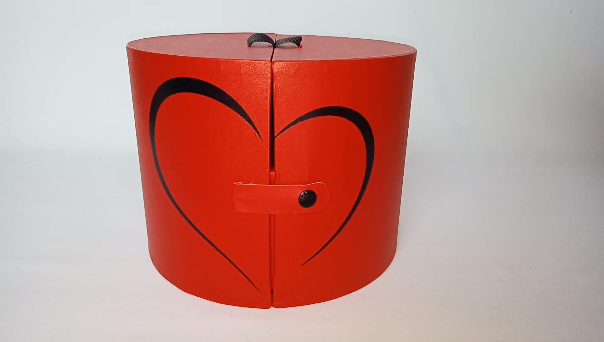 Contenitore di regalo rotondo del fiore della rosa lato aperto di lusso carino regalo di nozze box per i dolci