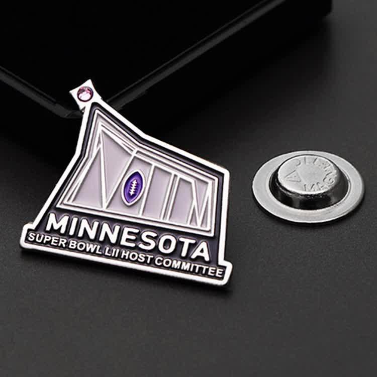 New design Custom Enamel elite security officer commemorative Pin Badge