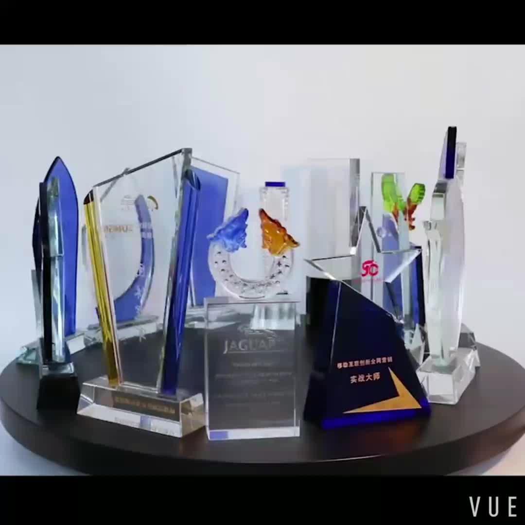 Trofeo di cristallo personalizzato lettering pentagramma stella a cinque punte del pollice premio trofeo di cristallo