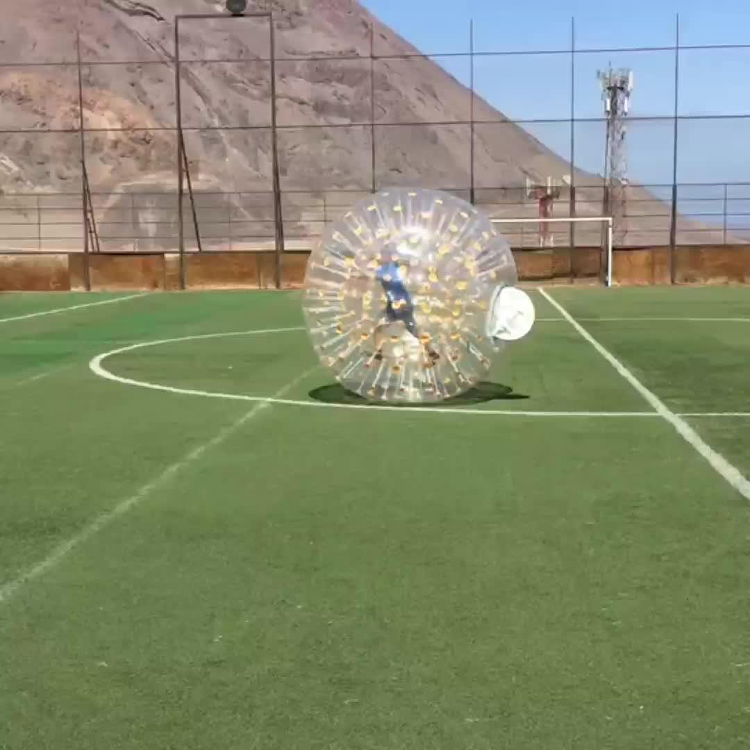 Hohe Qualität Günstige 100% TPU oder pvc menschlichen spiel aufblasbare körper zorbing gras ball für verkauf