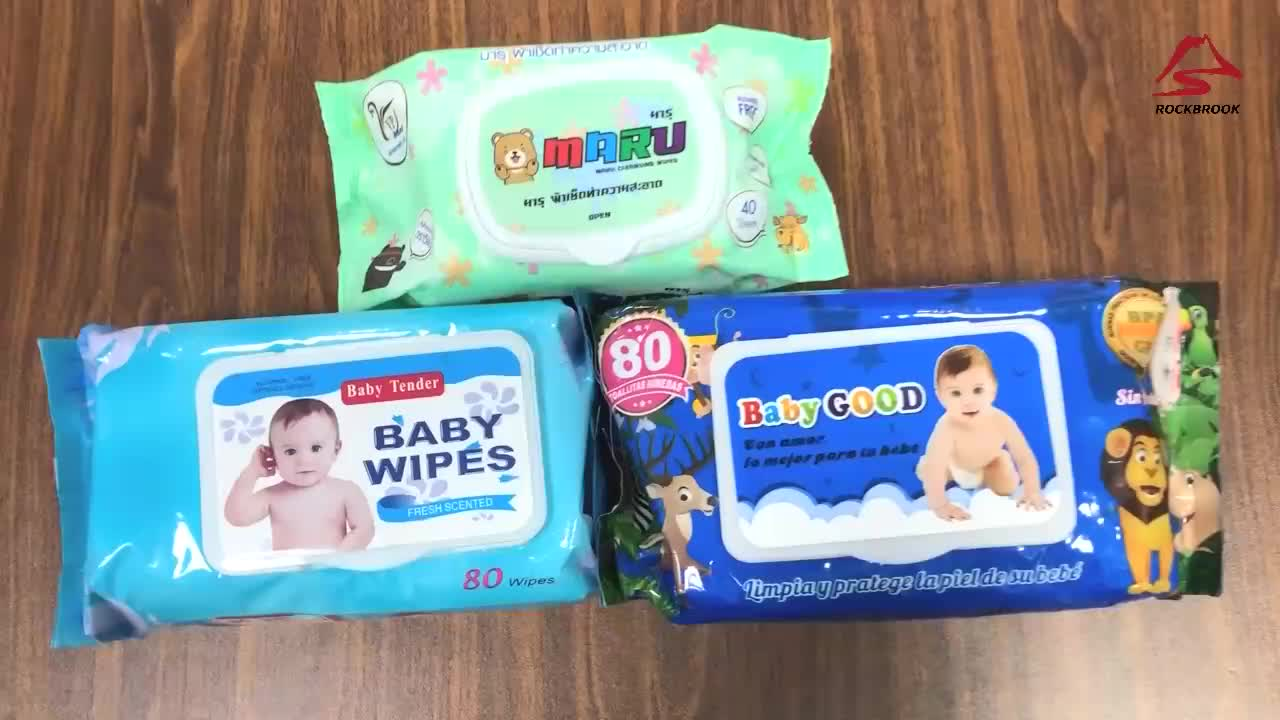 OEM Brand German Poland Biodegradable Disposable Water Baby Wet Wipes