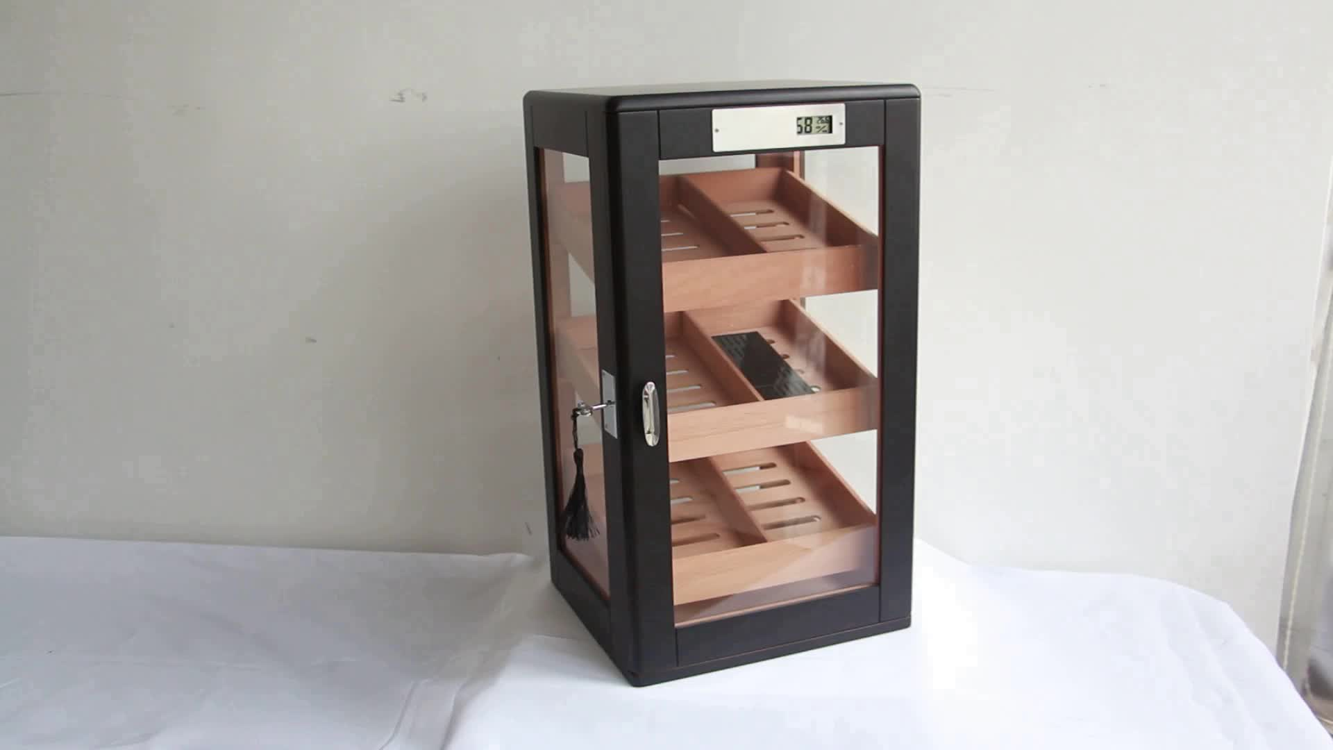 Freestanding Electrical Display Humidor Cigar Cabinet with Tray