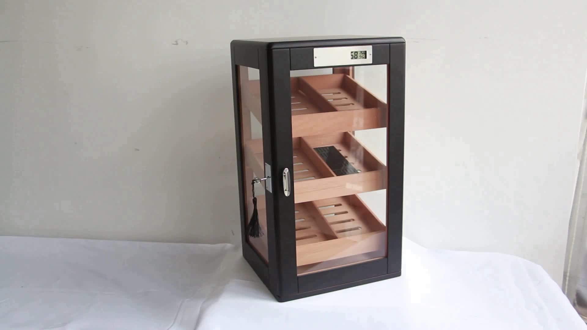 Armário de madeira elétrico do humidor do charuto do armário de exposição de Digitas da fábrica