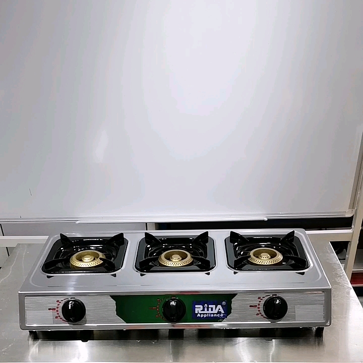Induction enamel infrared new home stainless 3 burner grey coating gas cooker